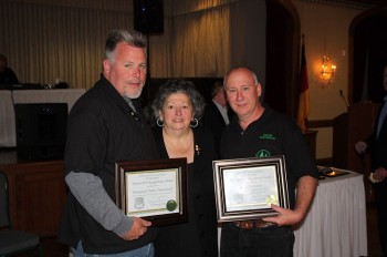 Ann Foster Memorial Award recipients: David Calzarette and the Pennypack Homes Townwatch shown with PDAC Chairperson Rosemarie Contino