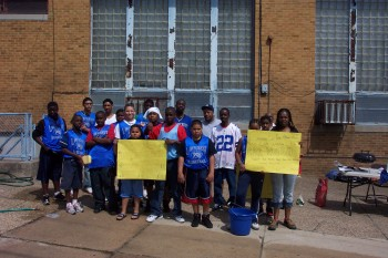 Parents and kids came together to help raise money with a car wash for the Lawncrest Youth Athletic Association baseball team.