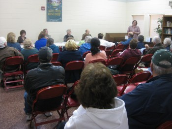 Holmesburg residents had many questions for CLIP's Cindy Lustick.