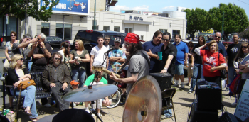 Hundreds of people packed Frankford Avenue May 15 for the May Fair. Photo by Donny Smith.