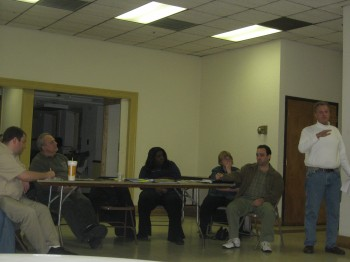 Northwood Civic Association's board members at a previous meeting. Photo by Christopher Wink.
