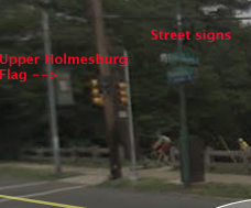 Yes, that's the Upper Holmesburg flag right next to the street signs.