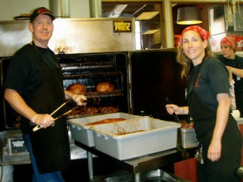 Jim and Brooke Higgins of Sweet Lucy's Smokehouse