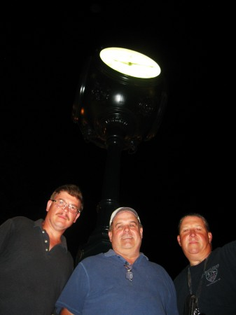 Mike Bobby, John Duffy and Steve Phillips keep watch on Fox Chase