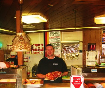 Marcus Rieker, third generation owner of Reiker's Prime Meats in Fox Chase. Photo by G. E. Reutter